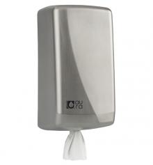 Distributeur ACIER INOX essuie-mains professionnel rouleau Ø130mm