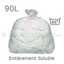 Sac soluble 90 litres, entièrement soluble à 45°C. PVA. 25µ. 660x840mm. (200 pièces)