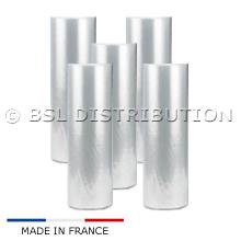 Lot de 5 Rouleaux de film gaine plastique 600 MM FENDUE / DOSSEE, soudeuse en L.