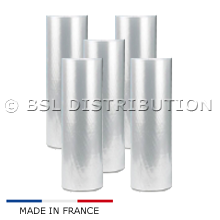 Lot de 5 Rouleaux de film gaine plastique 600 MM