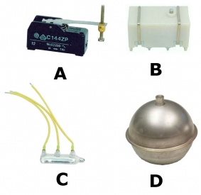 Micro interrupteur Ceme, Bulbe Mercure, Boule 70