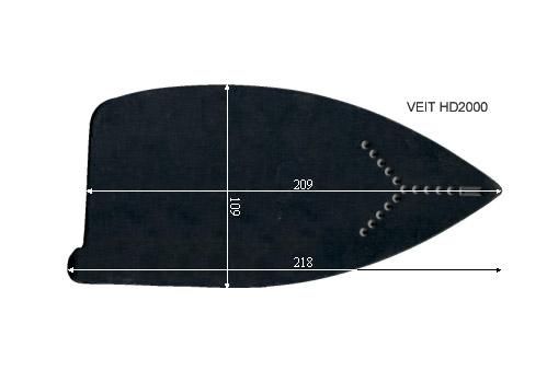 V.0550 VEIT HD 2000 SEMELLE TEFLON FER A REPASSER RENFORCEE