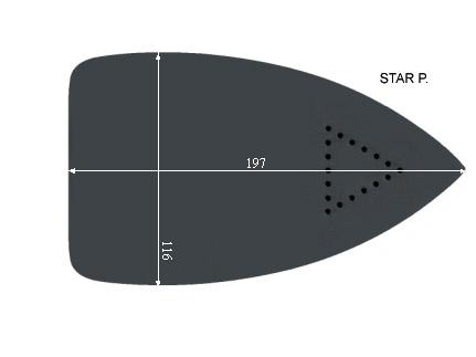 V.0755 STAR P.      SEMELLE TEFLON FER A REPASSER RENFORCEE