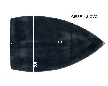 V.1150 CISSEL NOUVEAU MOD.      SEMELLE TEFLON FER A REPASSER RENFORCEE