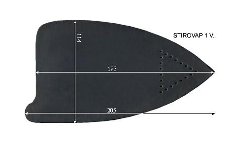 V.1100 STIROVAP 1      SEMELLE TEFLON FER A REPASSER RENFORCEE