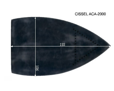 V.1160 CISSEL ACA 2000      SEMELLE TEFLON FER A REPASSER RENFORCEE