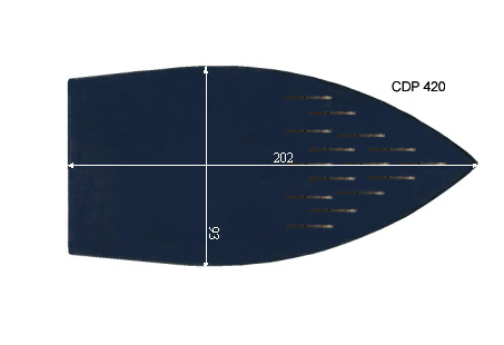 V.1305 NAOMOTO CDP 420      SEMELLE TEFLON FER A REPASSER RENFORCEE