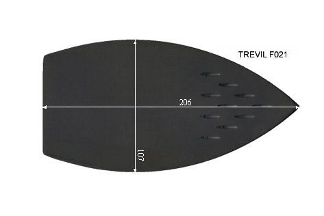 V.1810 TREVIL F021      SEMELLE TEFLON FER A REPASSER RENFORCEE