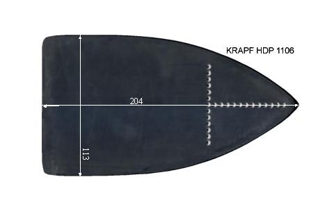 V.1900 KRAPF HDP 1106      SEMELLE TEFLON FER A REPASSER RENFORCEE