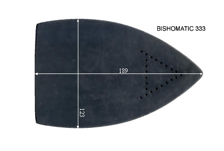 V.2600 BISHOMATIC 333      SEMELLE TEFLON FER A REPASSER RENFORCEE