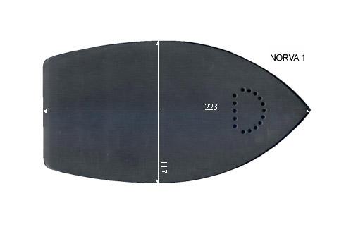 V.3005 NORVA 1      SEMELLE TEFLON FER A REPASSER RENFORCEE