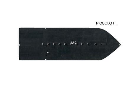V.3050 PICCOLO H.      SEMELLE TEFLON FER A REPASSER RENFORCEE