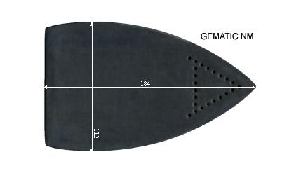 V.3150 GEMATIC NM      SEMELLE TEFLON FER A REPASSER RENFORCEE