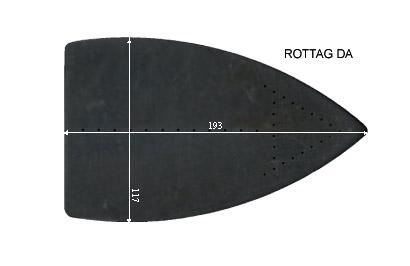 V.3450 ROTTAG DA      SEMELLE TEFLON FER A REPASSER RENFORCEE