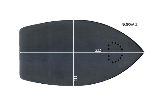 V.3500 NORVA 2      SEMELLE TEFLON FER A REPASSER RENFORCEE