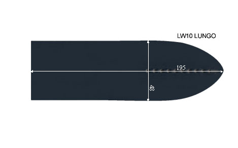 V.3550 LW 10 LONGUE      SEMELLE TEFLON FER A REPASSER RENFORCEE