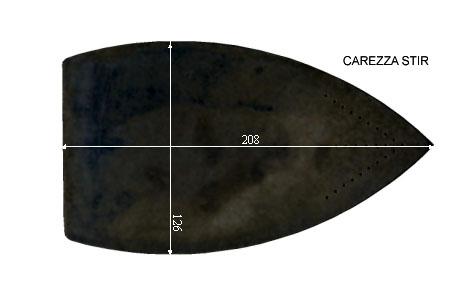 V.3900 CAREZZA STIR      SEMELLE TEFLON FER A REPASSER RENFORCEE
