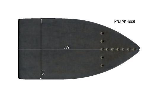 V.4150 KRAPF 1005      SEMELLE TEFLON FER A REPASSER RENFORCEE