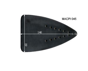 V.4500 MACPI 045      SEMELLE TEFLON FER A REPASSER RENFORCEE