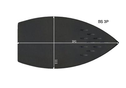 V.4600 BS 3P      SEMELLE TEFLON FER A REPASSER RENFORCEE