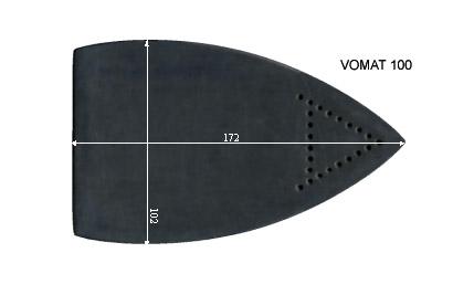 V.6500 VOMAT 100      SEMELLE TEFLON FER A REPASSER RENFORCEE