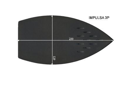 V.6800 IMPULSA 3P      SEMELLE TEFLON FER A REPASSER RENFORCEE