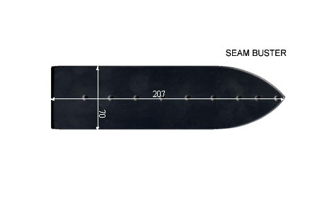 V.7150 SEAM BUSTER      SEMELLE TEFLON FER A REPASSER RENFORCEE