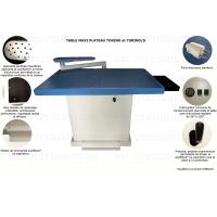 TORINO - Table professionnelle rectangulaire aspirante, chauffante, soufflante ( en option )